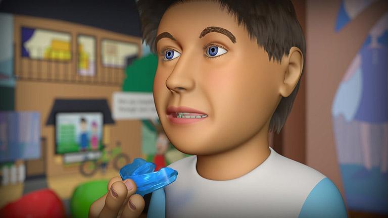 cách đeo niềng răng trainer